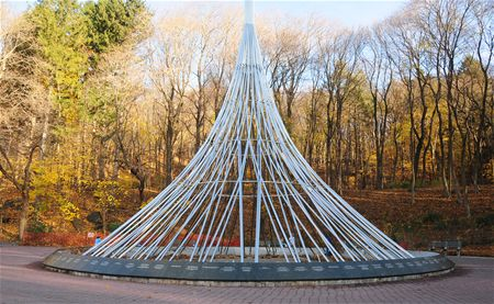 'The Rising' at Valhalla Dam - monument for Westchester 9-11 victim