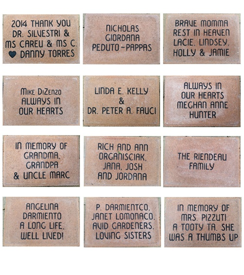 Bricks installed 9-11-14